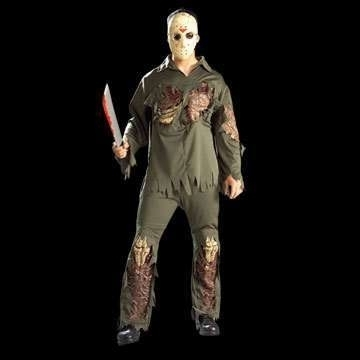 adultos Jason Voorhees  traje de super lujo