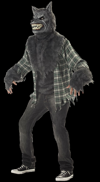 Full moon werewolf costume with mask with Moving mouth