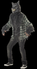 Full moon werewolf costume with mask Moving mouth