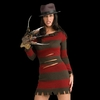Freddy Krueger Female Costume - Halloween