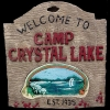 Camp crystal lake 3D sign
