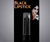 Black lipstick ideal for halloween or horror