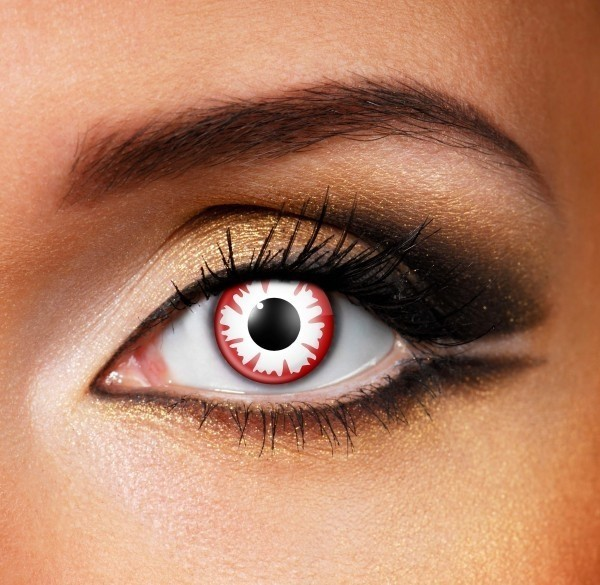 Blood demon Contact Lenses - Pair of lenses for vampires or demons