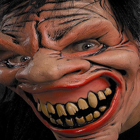 Lunatic imp Latex horror mask