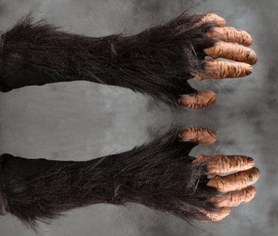 Hairy monkey hands super action gloves