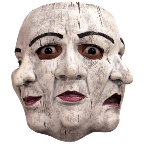 Tri face - Horror Latex Maske Clown
