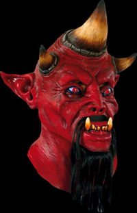 Tri horn the devil Latex horror mask