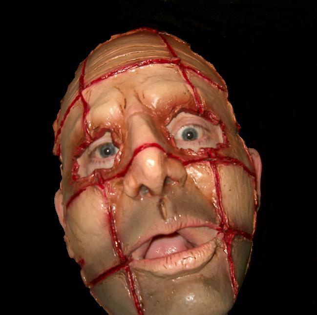 Razor Face Gory Latex Horror Mask No 6 Halloween