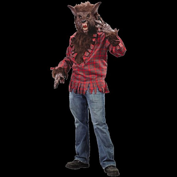 Deluxe Werewolf Costume / Brown  sc 1 st  Merlins Ltd & Deluxe Werewolf Costume - Shirt - Mask - gloves / Brown