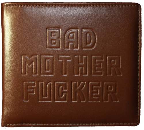 Bad mother f*cker wallet brown - Leather