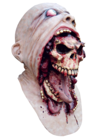 Demon escapes mask full head gory latex horror mask - Demon skull
