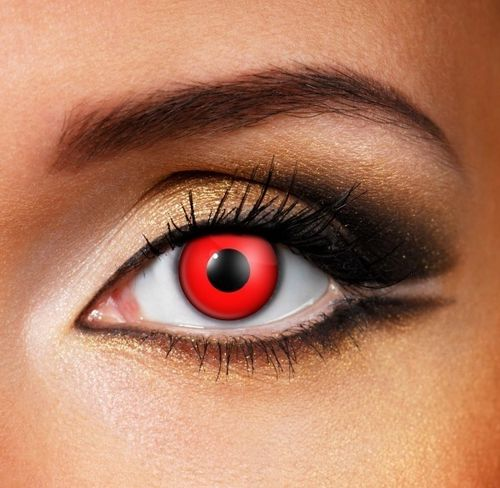Blood Red Contact Lenses - Pair of lenses for vampire or demon