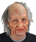 Barry mask Old man mask with hair