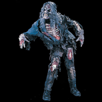 Zombie horror costume with Mask - Halloween masks, horror masks, scary masks, latex masks, realistic masks :  zombie realistic costume mask