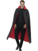 Quality long cloak with collar - Red Lining