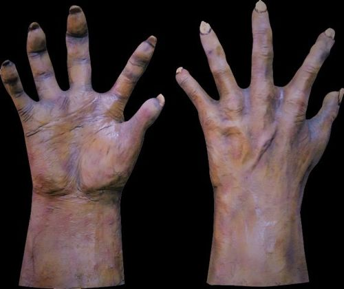 Monster / Zombie hands gloves - flesh