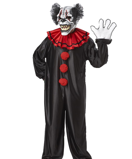 Clown costume with Moving mouth mask