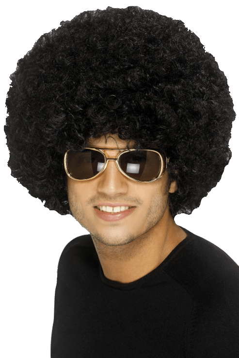 Mens White Afro Wig 9