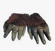 Hairy horror gloves - Black