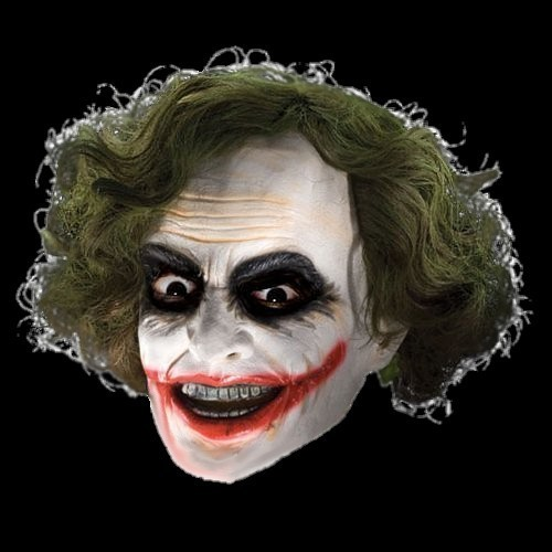 Adults' Batman Dark Knight Joker Mask latex with hair