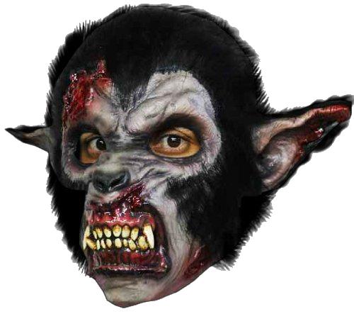 Maschera HORROR WOLF LUPO MANNARO Maschera Halloween Horror maschera Lycan gruselmaske
