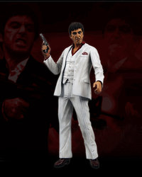 "Scarface 18"" Figure with Sound White Tux"