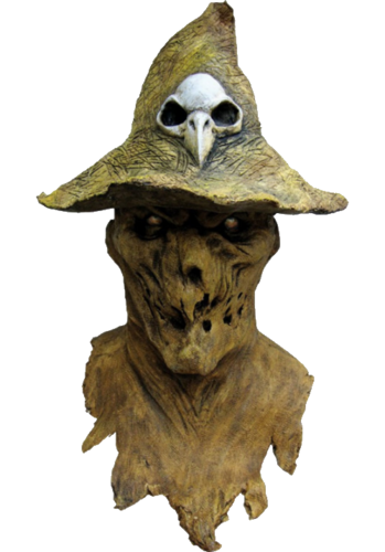 Evil scarecrow horror mask