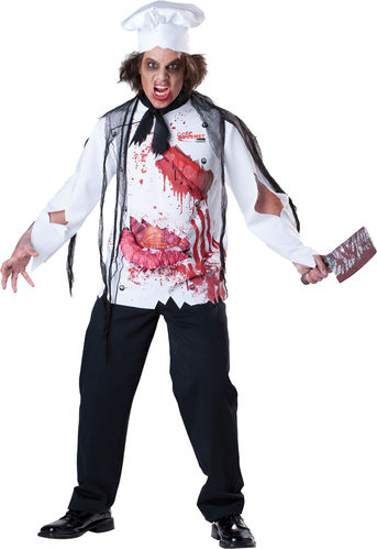Bloody Chef costume with hat - Halloween