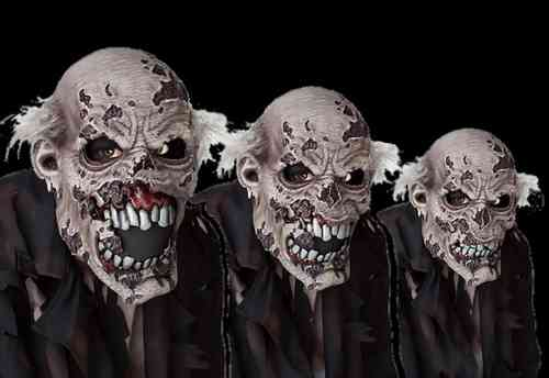 Zombie action jaw Mask Moving mouth