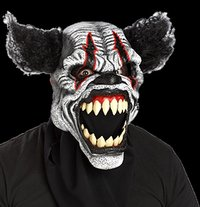 Last Laugh Clown Mask - Moving Mund - Halloween maske