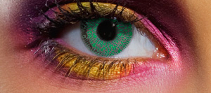 Green tone contact lenses SPFX