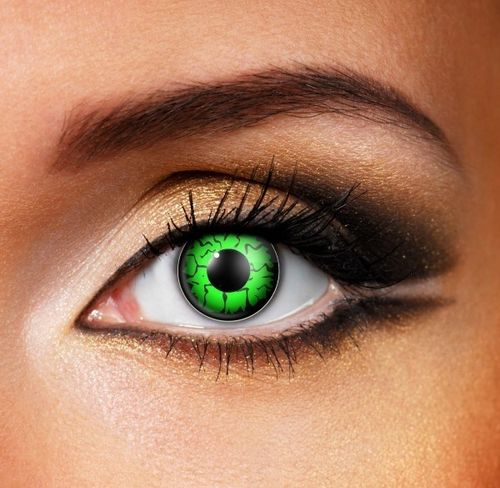 Green contact lenses - Pair of lenses for Freddy Krueger or Aliens