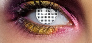 White mesh contact lenses SPFX