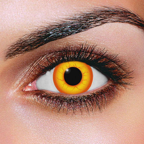 Crazy clown contact lenses - Pair of lenses for Clowns or demons