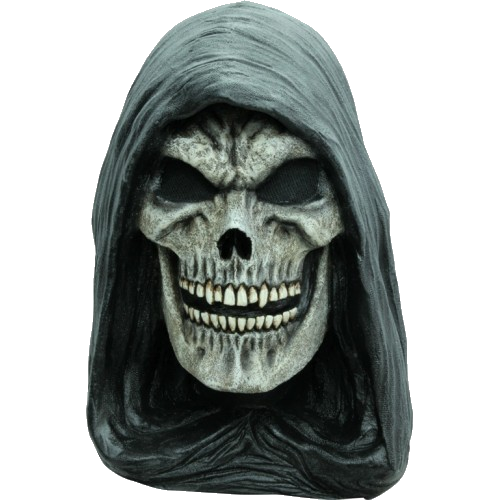 Hooded reaper horror mask