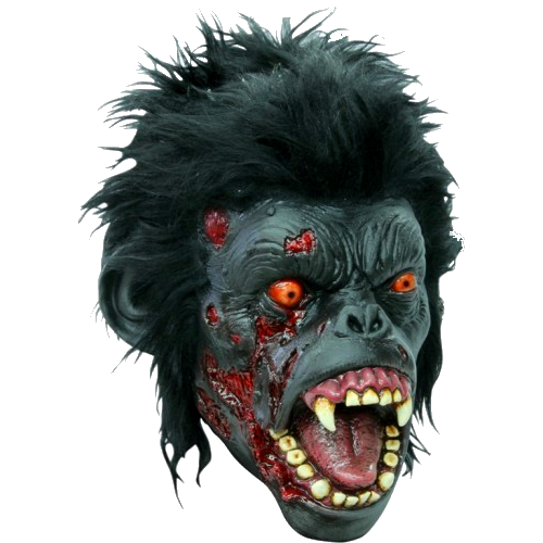 Zombie chimp Gory horror mask