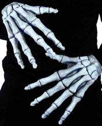 Skeleton reaper bones Hands gloves