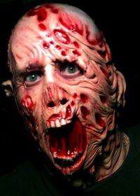 Melting man gory Halloween horror mask