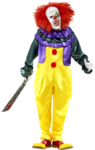Creepy IT Clown Costume e maschera