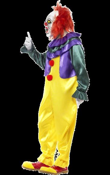 Creepy IT Clown Kostüm und Maske Lila Costume