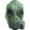 Rubber latex Gas mask - green