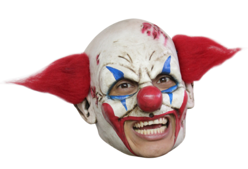 Deluxe Clown chin strap horror mask