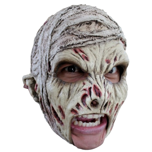 Mummy chin strap horror mask - Halloween