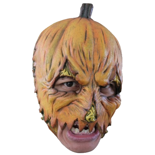 Pumpkin chin strap horror mask