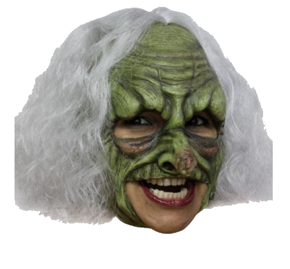 Deluxe Witch chin strap horror mask - Halloween