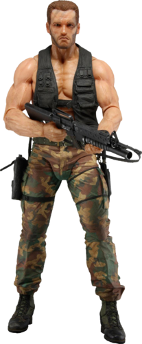 Predator Dutch Schaefer quarto action figure in scala