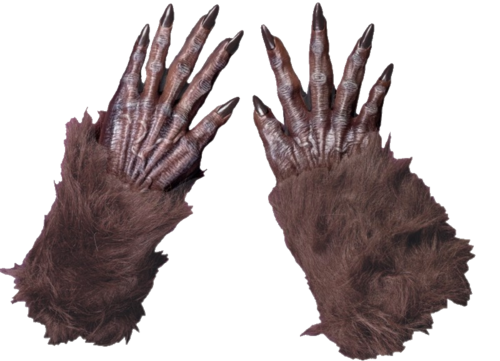 Brown Werewolf Wolf / Monster Gloves