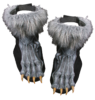 Hairy Monster Werewolf feet shoe covers