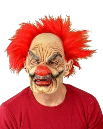 Tufty  the clown Moving mouth horror mask