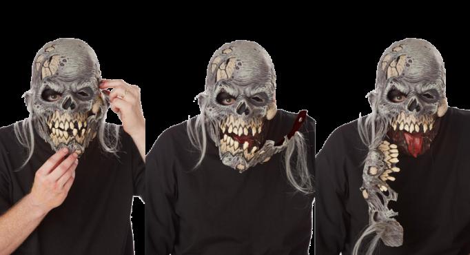 Visage d chir de zombie masque bouche d m nagement for Blessure levre interieur